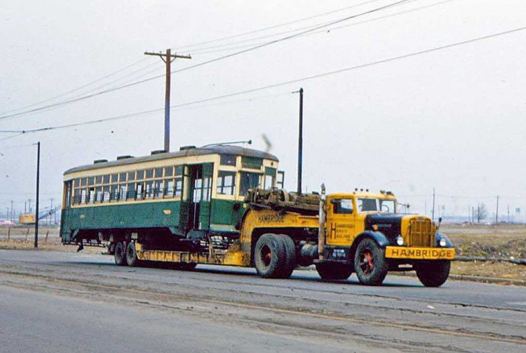 Street Car Being Scraped in the 1950s
