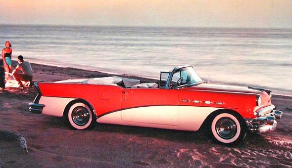 1950s Buick Convertible on the Beach