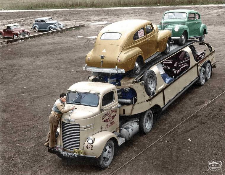Automobile Shippers Inc. Dodge Car Hauler - 1940 Plymouths