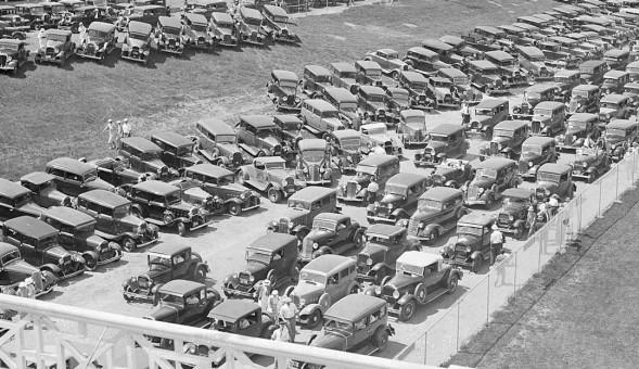 Cars Entering Rockingham Park Circa 1935