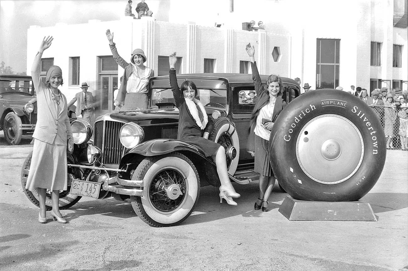Models and a L-29 Cord Promote B.F. Goodrich Airplane ... Goodyear Tires