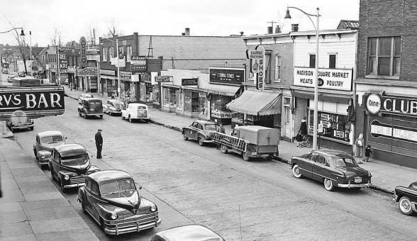 Vintage Car Street Scene 1950