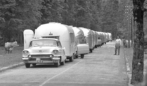 1950s Cadillac on an Airstream Caravan