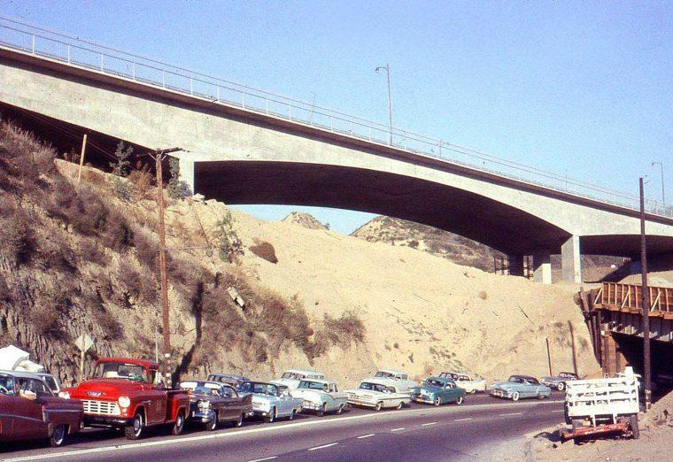 1950s Cars-The San Fernando Freeway