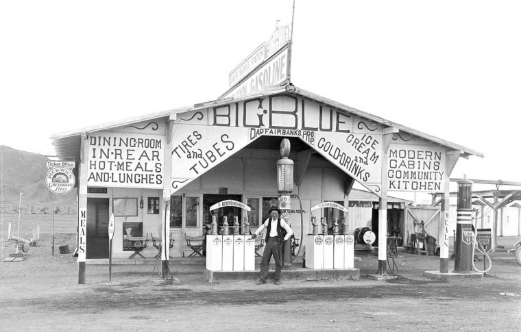 Big Blue Gas and Cabins Baker, Nevada 1930s