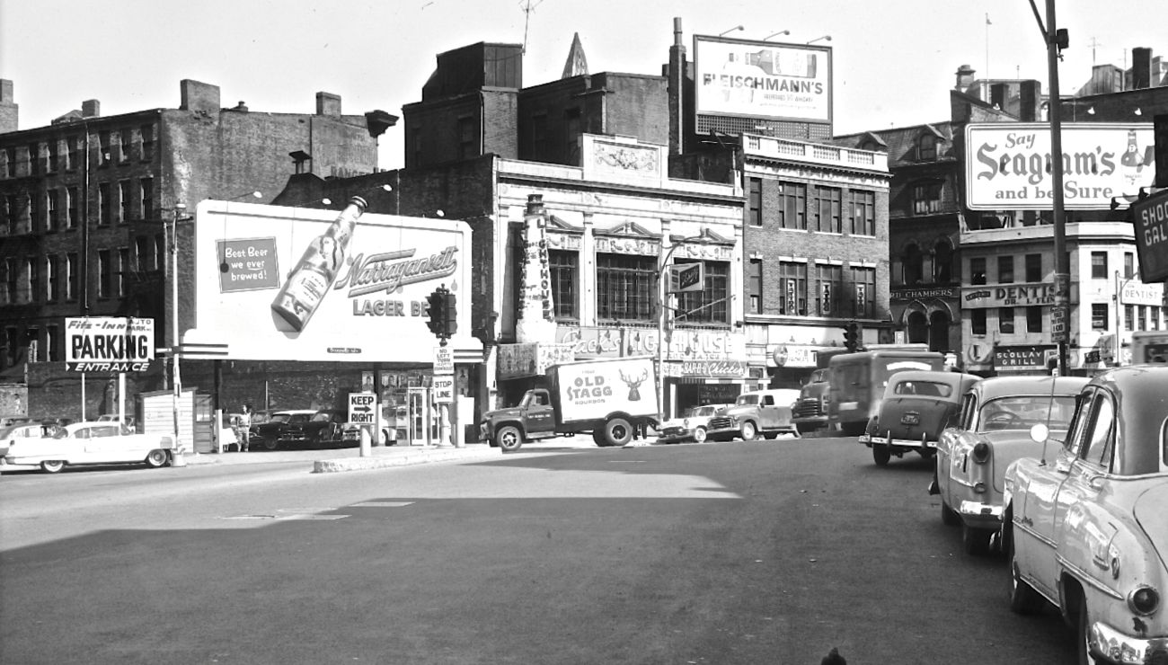 scollay square views of automobiles and the best beer