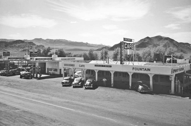 Charles Brown Chevron Gas and Cafe Baker, California