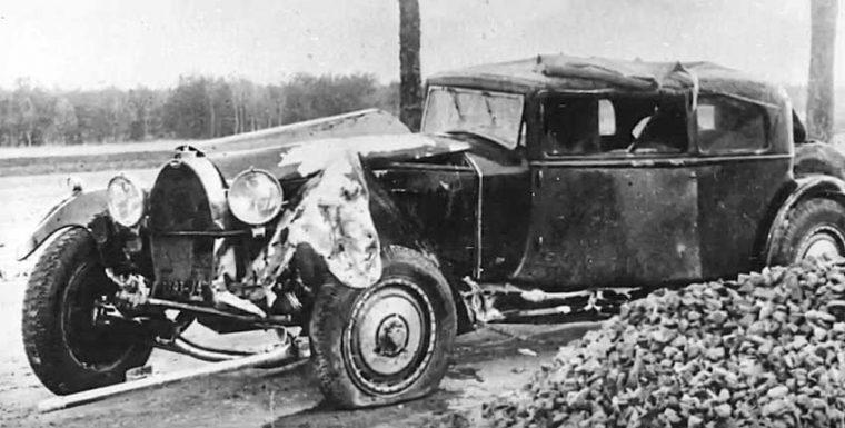Crashed Bugatti Royale