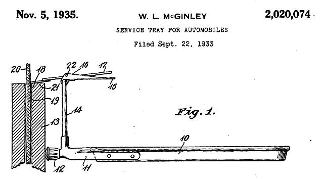 Driven Service Tray Patent 1935