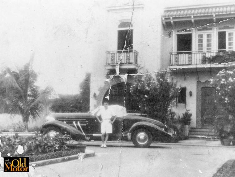 Eduardo Montinola 1939 with 1936 Auburn Speedster 1939