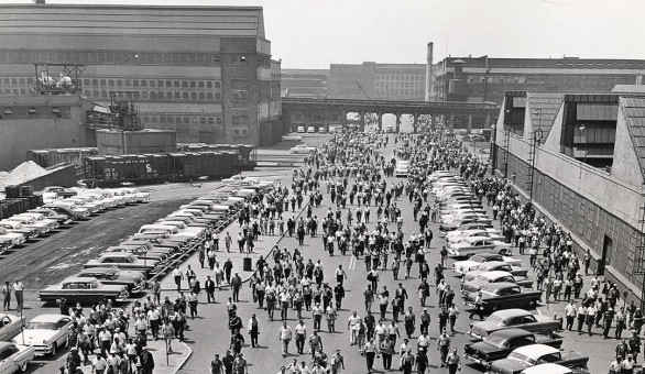 Ford Workers Leaving Plant Late-1950s