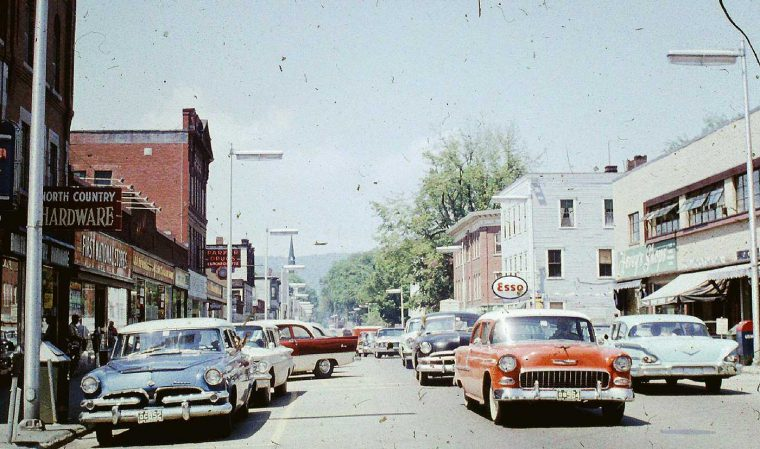 Littleton NH Early-1960s Street with Cars