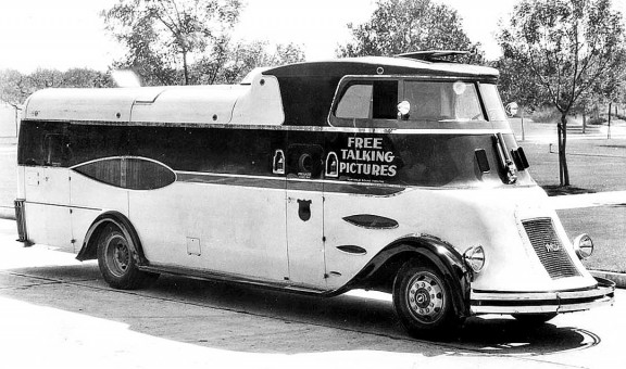 Movie Theater on Wheels 1931