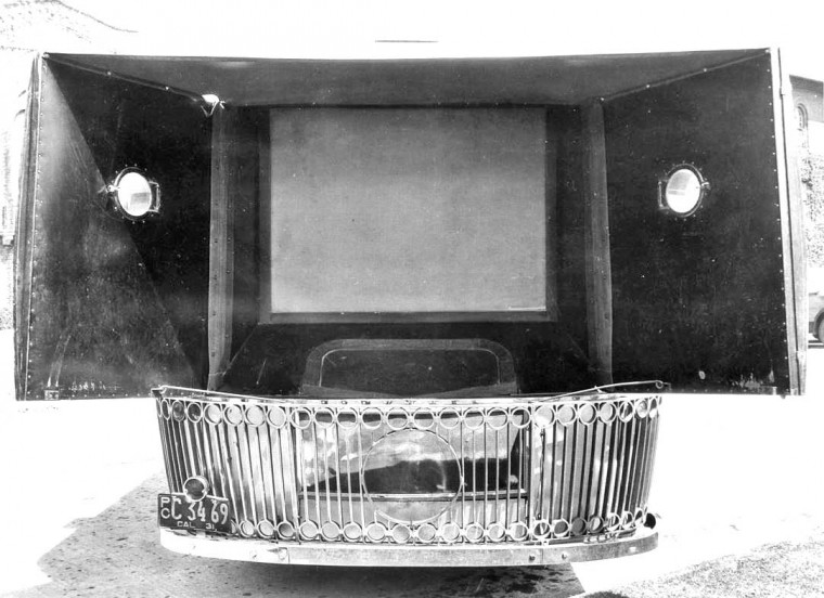 White Truck Movie Screen 1931