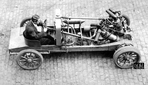 1907 Christie Racing Car Overhead View