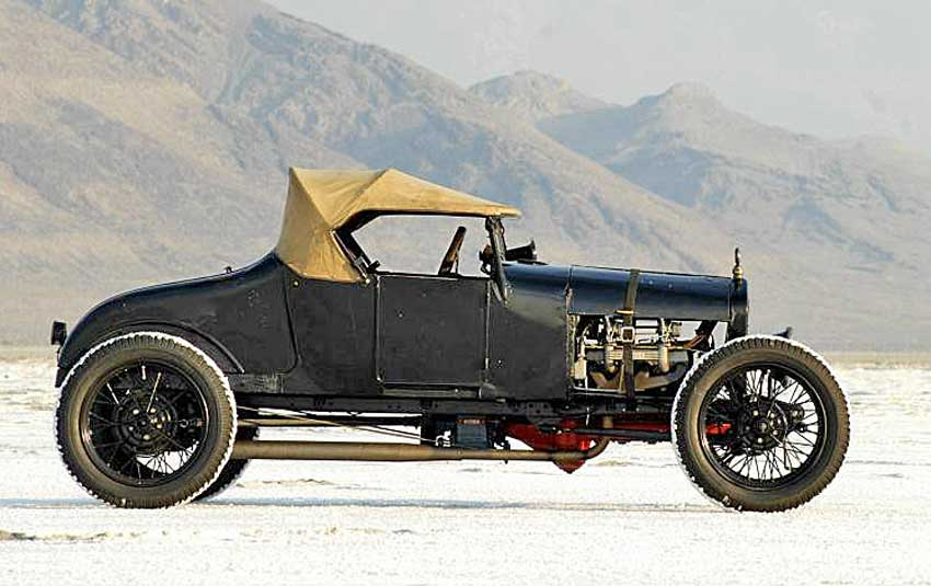 Clayton paddison s model t gow job on jay leno s for Garage ford bonneville
