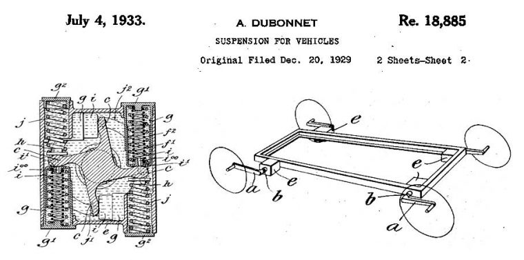 1933 Dubonnet Suspension Patent