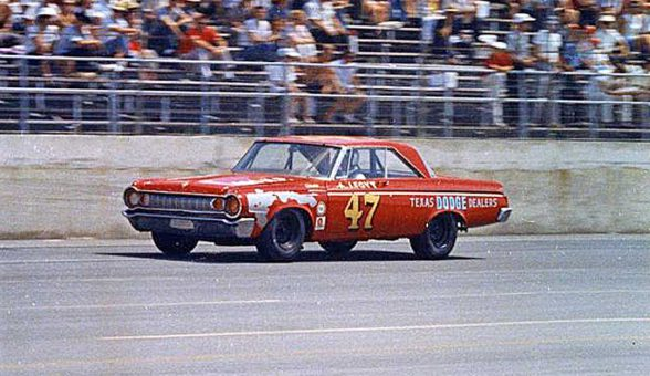 A. J. Foyt wins the 1964 Firecracker 400