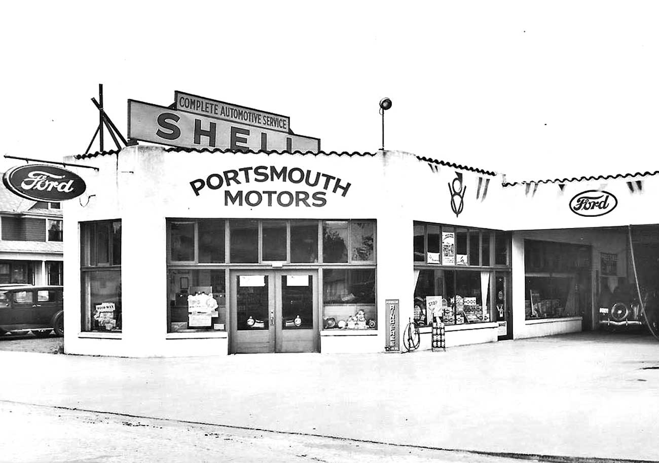 portsmouth ford day and night sales service and shell gas the old motor. Black Bedroom Furniture Sets. Home Design Ideas