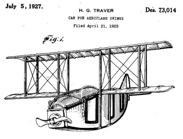 Airplane Car for Amusement Park Ride 1927