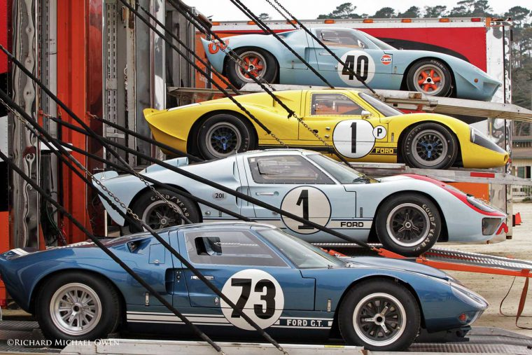 Ford GT 40's on Transporters at 2016 Pebble Beach Concours
