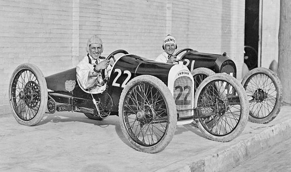 Harry Hartz In Baby Vanderbilt Indian Racing Car
