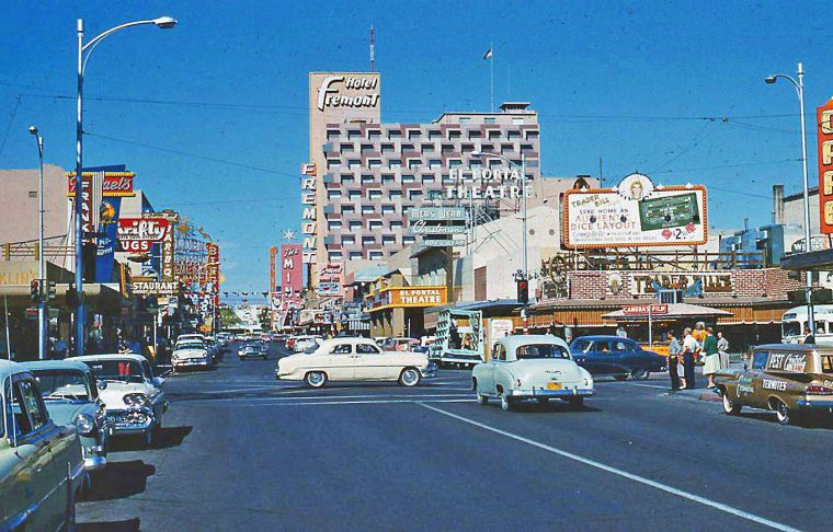 Las Vegas Vintage Cars Circa 1960