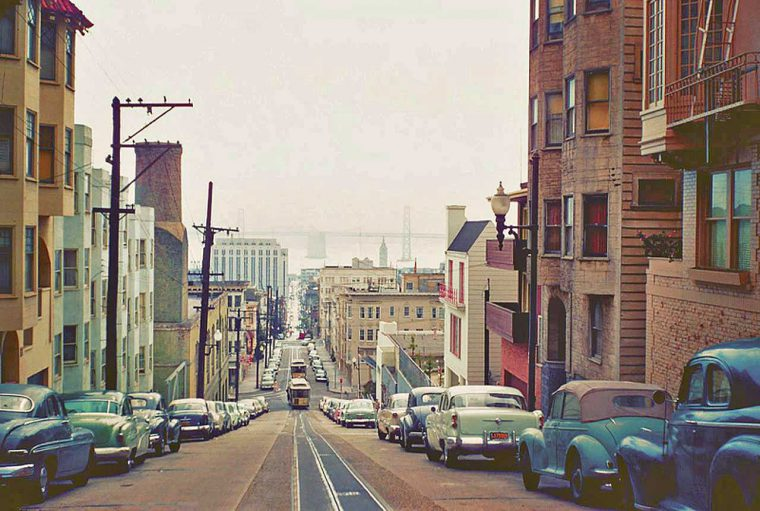 1950s-san-francisco-street-view-with-vintage-cars