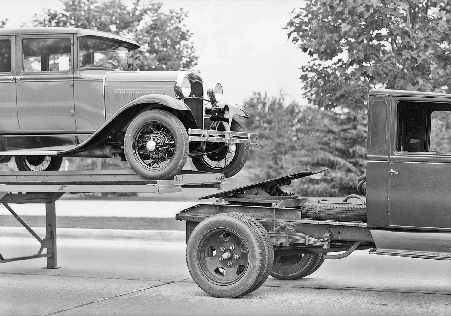 Three model a fords to go taylor truck a way co the old motor 1929 model a ford truck and fifth wheel sciox Choice Image