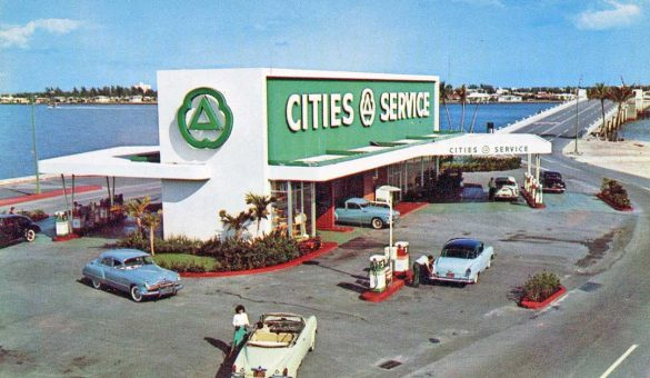 cities-service-service-station-and-1950s-cars