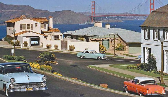 pastel-colored-1950s-cars-san-francisco-golden-gate-bridge