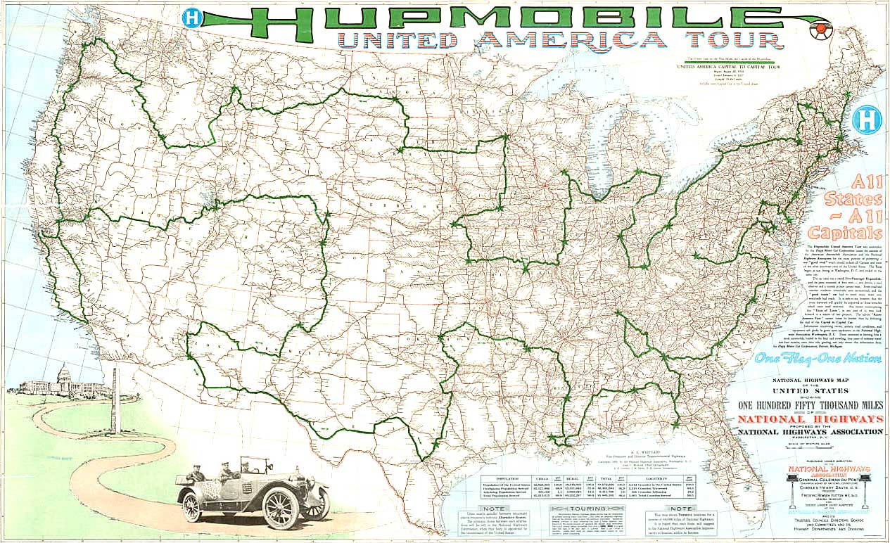 Gas And Go Hupmobile Forty Eight State Tour For Better Roads The