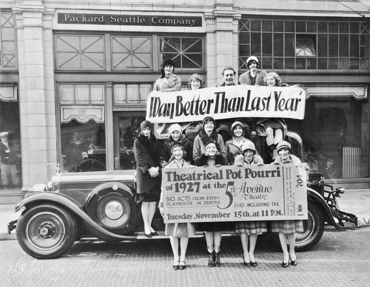 1927 Packard Club Sedan at a packard dealership