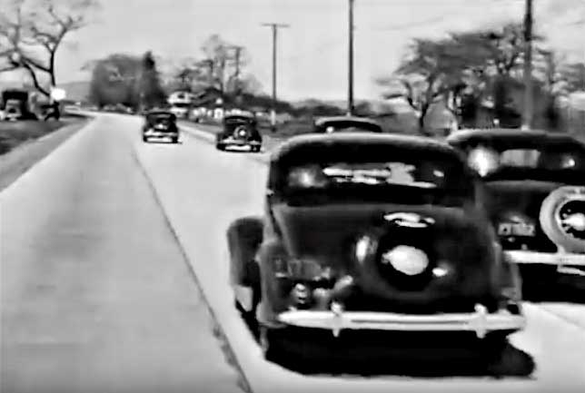 1940s footage of cars 1