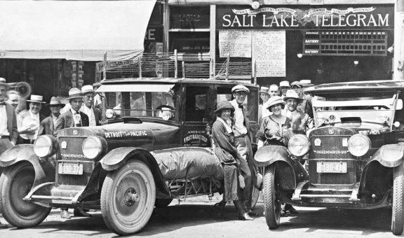 America's radio tour women drive rickenbacker cars 1