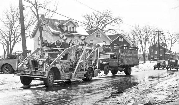 Big Bertha tow truck from Browncroft Garage in Rochester NY circa 1940