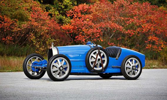 Bugatti Type 35 bird racing car
