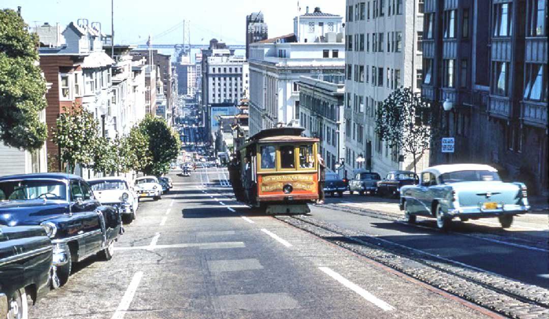 mid-1950s-san-francisco-automobiles-cable-car-bay-bridge