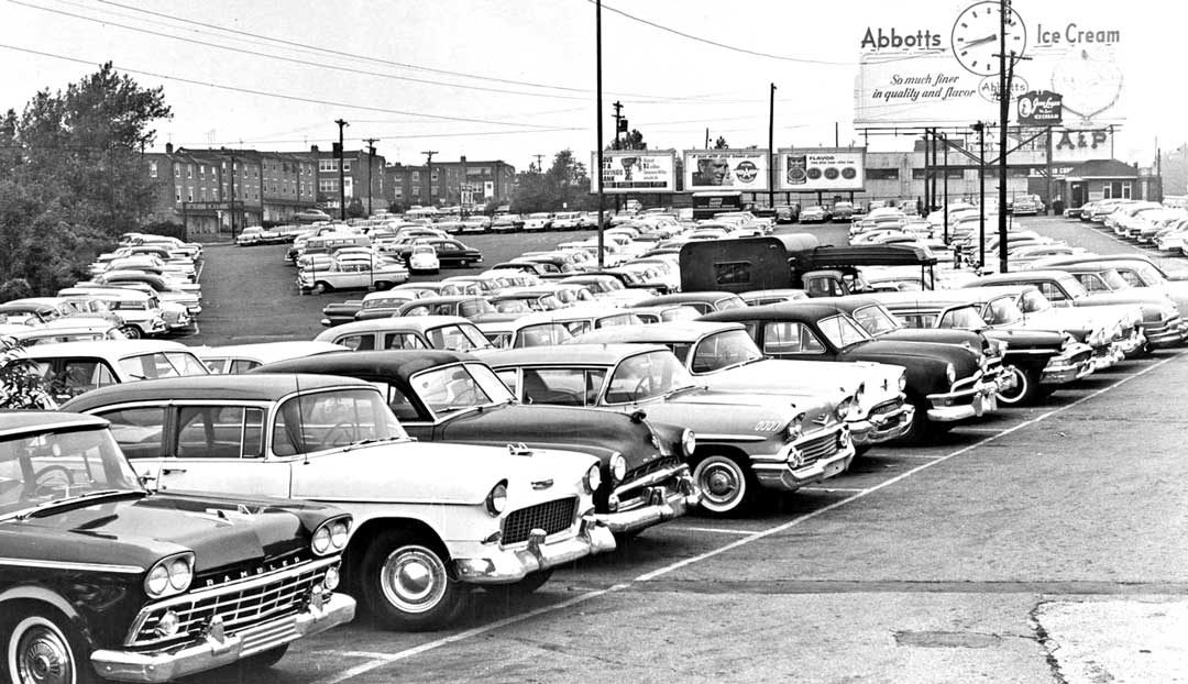 Circa 1960 Philadelphia Area Parking Lot View Filled with Cars | The ...
