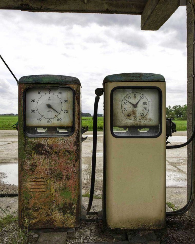 Abandoned Antique Gasoline Pumps