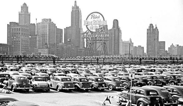 John Vachon Chicago parking lot 1941 6