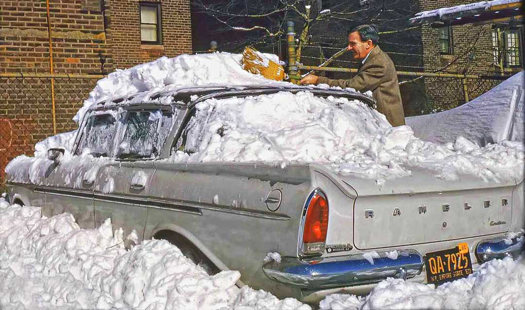 Rambler covered in snow New York 1961 2