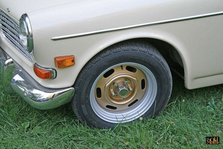 Six and Seven inch wide Volvo 122s Steel Wheels