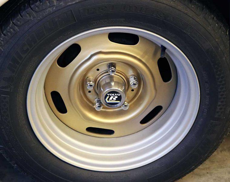 Volvo 122s Wide Steel Wheels