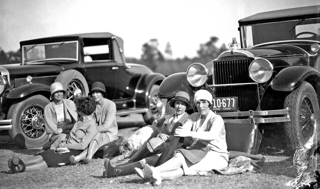 Women and Classic Cars at a Pinehurst Country Club Men\'s Polo Match ...