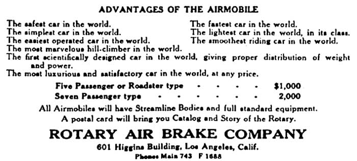 Airmobile Car Rotary Air Brake Company 4