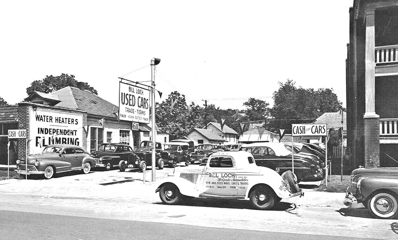 Used Car Lot in 1948 | The Old Motor