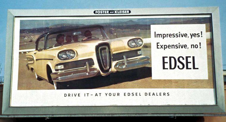 Edsel Advertising Billboard