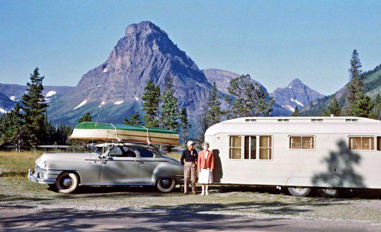 Postwar Chrysler - Travel Trailer and Boat