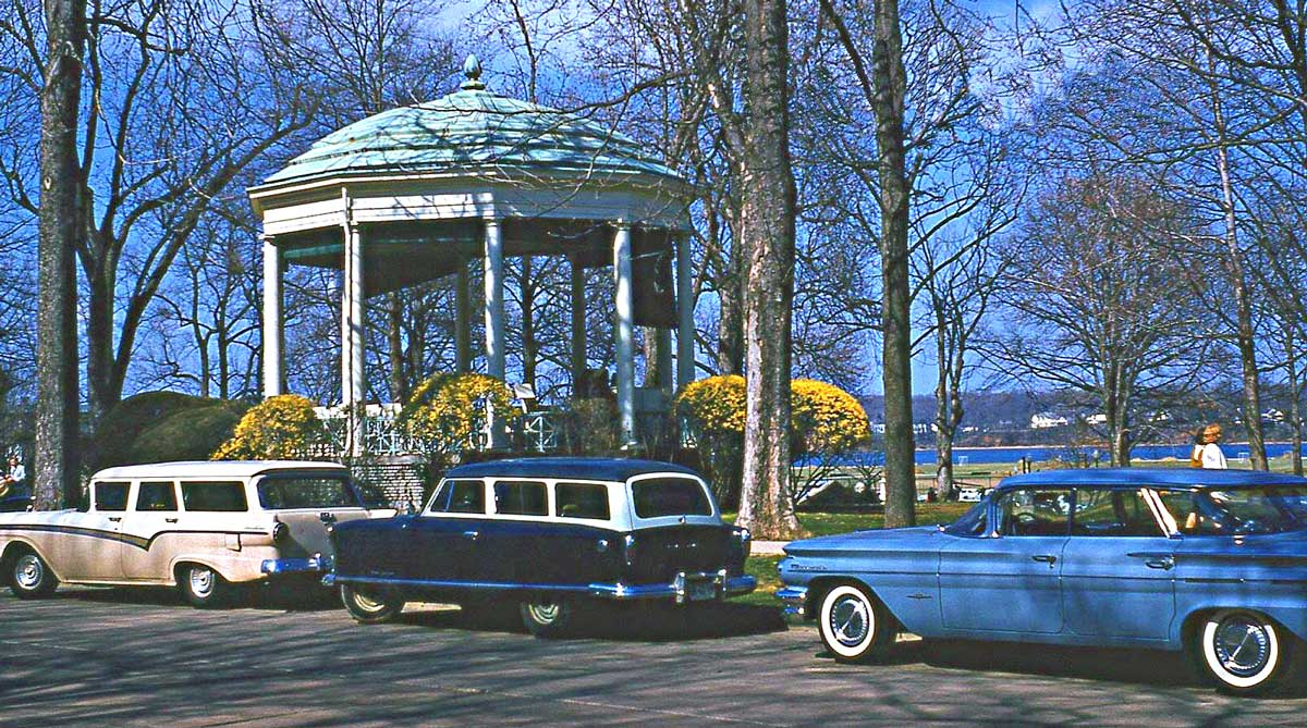 Four Fun Friday Fifties And Sixties Kodachrome Car Images The Old 1960 Pontiac Bonneville Station Wagon A Pair Of 1950s Wagons Later Door Hardtop In Peaceful Springtime Setting